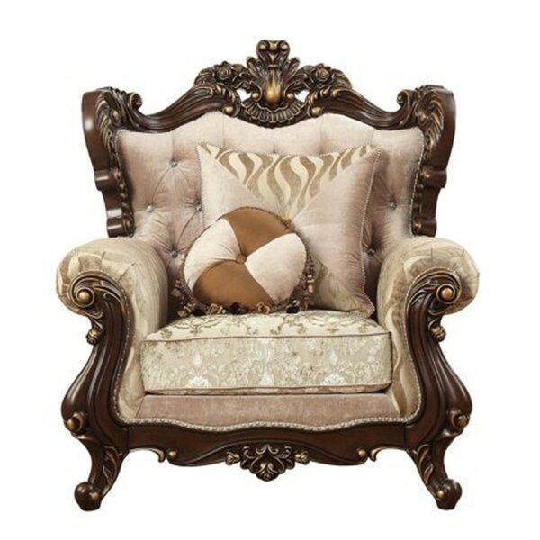 Stutz Rolled Arm Floral Arched Backrest Armchair