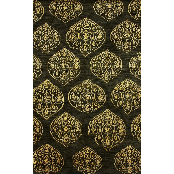 Zem Hand-Knotted Wool Cocoa Area Rug by nuLOOM