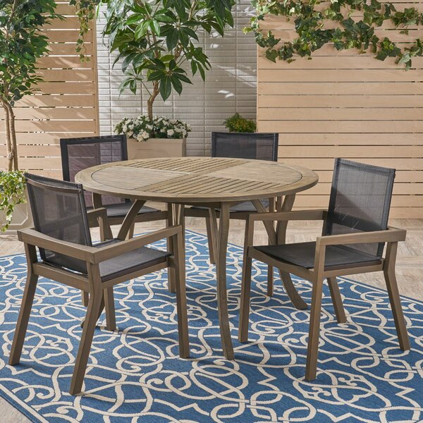 Euro 5 Piece Dining Set by Union Rustic