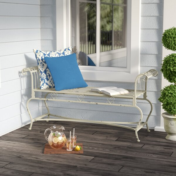 Lemire Iron Garden bench by Lark Manor