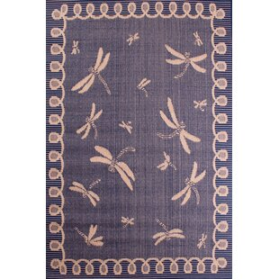 Outdoor Dragonfly Blue Rug