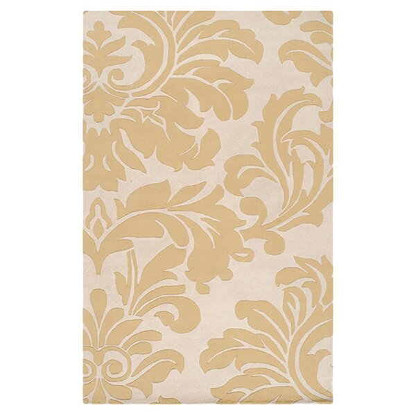 Diana Canary Tufted Wool Yellow Area Rug by Birch Lane™