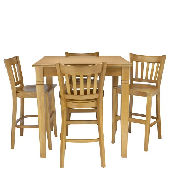 Weinberg 5 Piece Pub Table Set by Red Barrel Studio