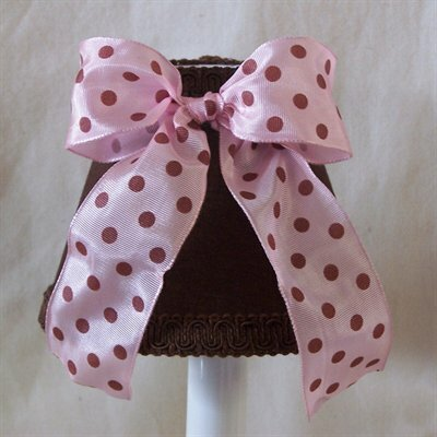 Strawberry Mousse 4 H Fabric Empire Candelabra shade ( Clip on ) in Brown/Pink