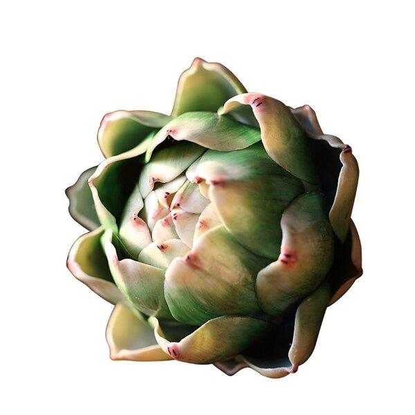 3 Pieces Rustic Real Touch Artichoke Desktop Succulent Plant Set by Gracie Oaks