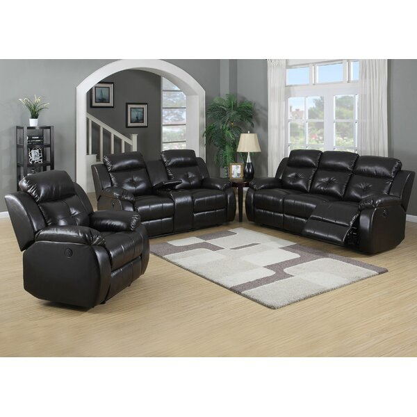 Hampton Reclining 3 Piece Living Room Set by Living In Style