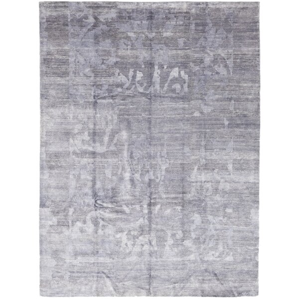 One-of-a-Kind Denson Hand-Knotted Wool Blue Indoor Area Rug by Isabelline