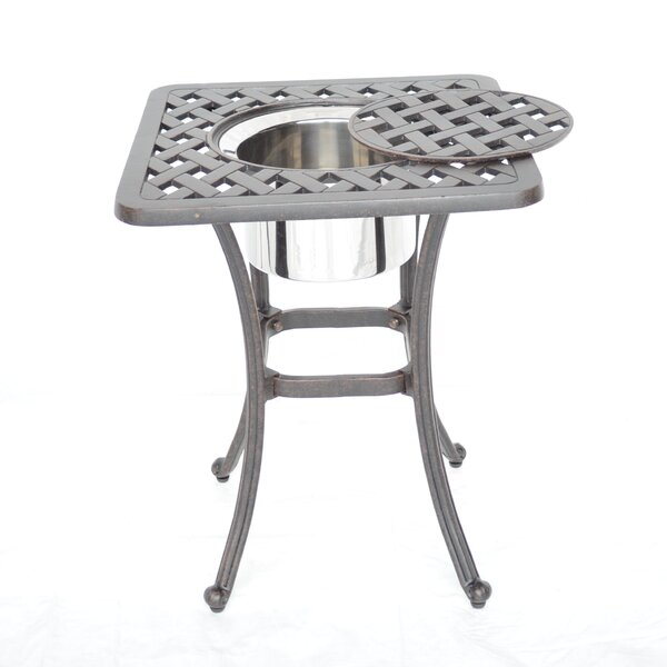 Nola Side Table with Ice Bucket by Darby Home Co