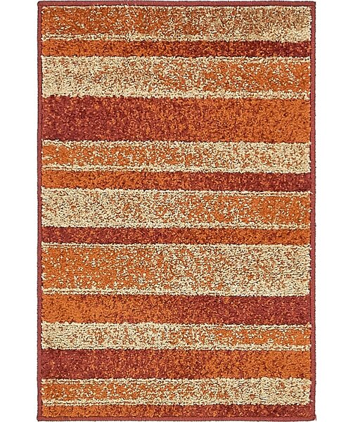 Bryan Rust Red Area Rug by Ebern Designs