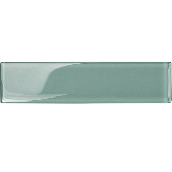 Contempo 2 x 8 Glass Subway Tile in Adriatic Mist by Splashback Tile