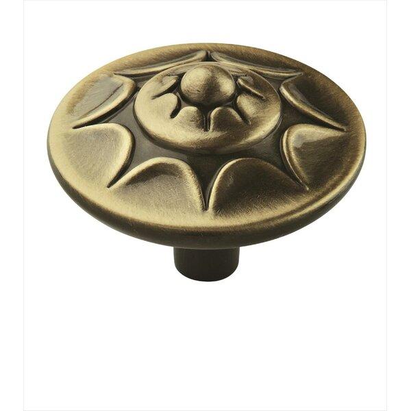 Allison Antique Brass Mushroom Knob by Amerock