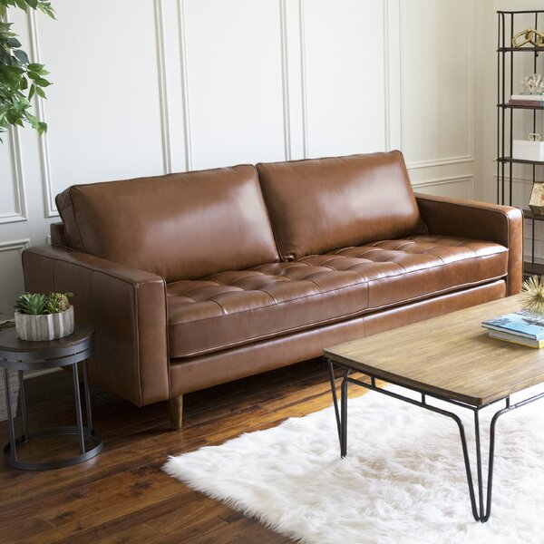 Idris Leather Sofa By Modern Rustic Interiors