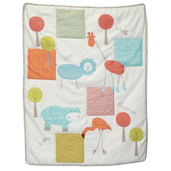 Jungle Scribbles Crib Bumper by Cotton Tale