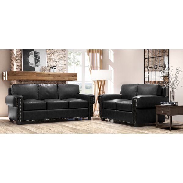 Sioux 2 Piece Leather Living Room Set by Westland and Birch