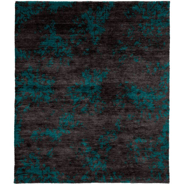 One-of-a-Kind Kinsley Hand-Knotted Traditional Style Blue 6' x 9' Wool Area Rug