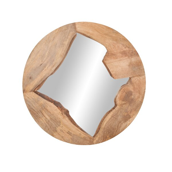 Tyringham Round Wood Accent Mirror by Union Rustic