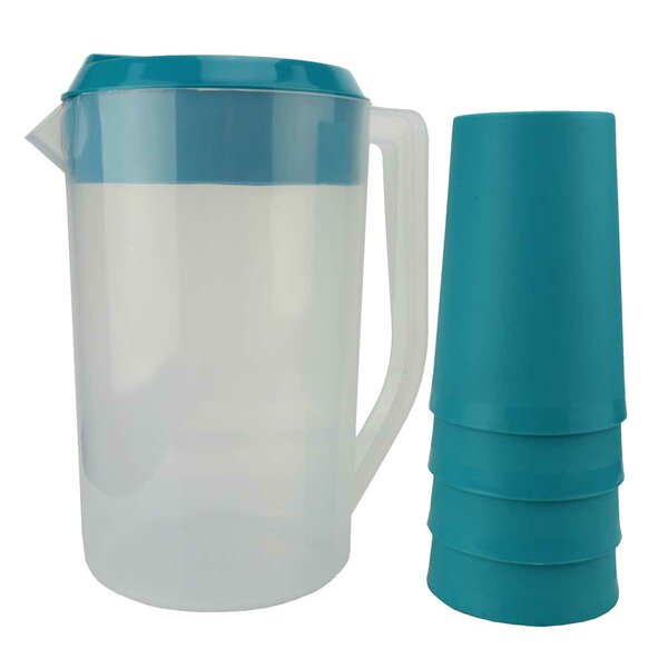 5 Piece Juice 72 Oz. Pitcher Set by American Maid Plastic