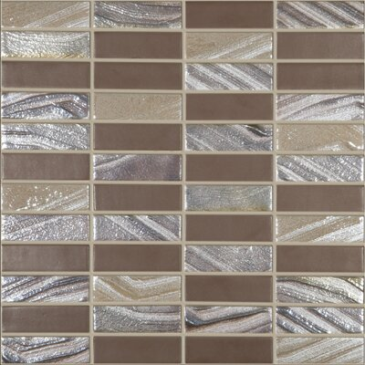 Urban Tribeca 1 x 3 Glass Mosaic Tile in Matte Metalic by Kellani