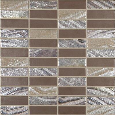 Urban Tribeca 1 x 3 Glass Mosaic Tile in Matte Metalic by Kellani