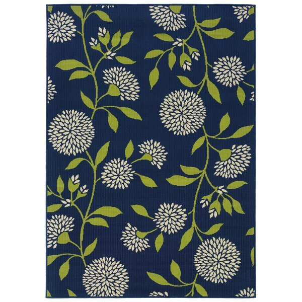 Kaydence Blue/White/Green Indoor/Outdoor Area Rug by Alcott Hill
