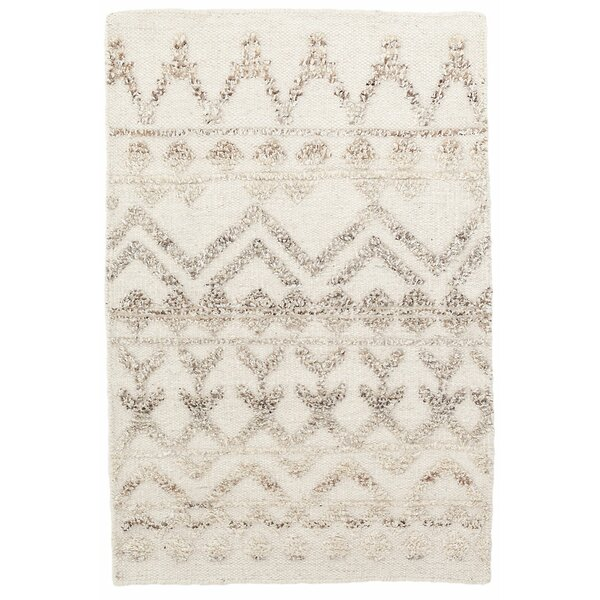 Venus Hand Knotted Wool Beige/Brown Area Rug by Dash and Albert Rugs