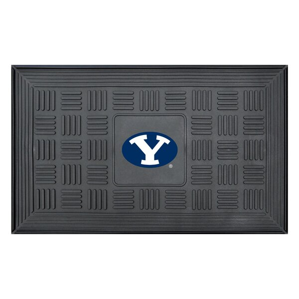 NCAA Brigham Young University Medallion Door Mat by FANMATS