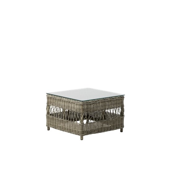 Harriman Glass Side Table by Bungalow Rose
