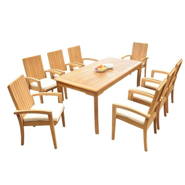 Webster 9 Piece Teak Dining Set by Bayou Breeze