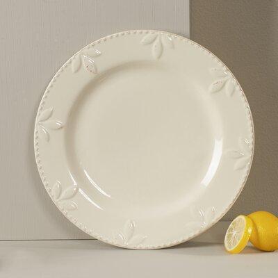 "Genesee 11"" Dinner Plate Lark Manor Color: Ivory"