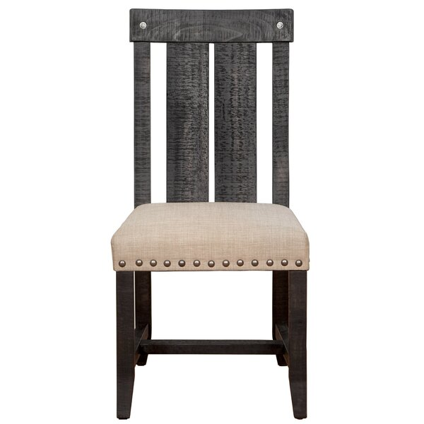 Hemlock Solid Wood Dining Chair by Millwood Pines