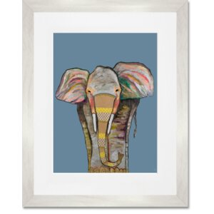'Trendy Trunk on Blue' by Eli Halpin Framed Painting Print by GreenBox Art