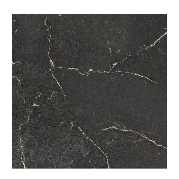 Marmi Pol 24 x 24 Porcelain Field Tile in Nero Reale Black by Casa Classica