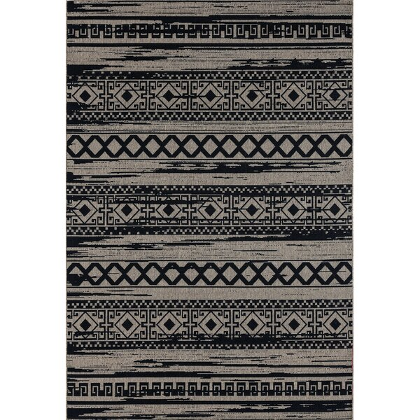 Pegues Beautiful Brown/Black Indoor/Outdoor Area Rug by Union Rustic