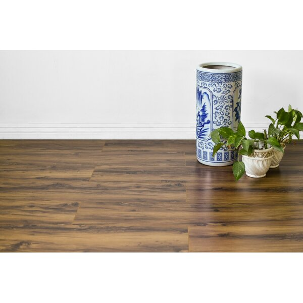 Kayson 8 x 48 x 12mm Oak Laminate Flooring in Tan by Serradon