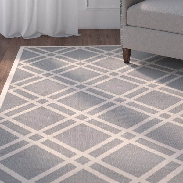 Herefordshire Gray/Ivory Indoor/Outdoor Area Rug by Winston Porter