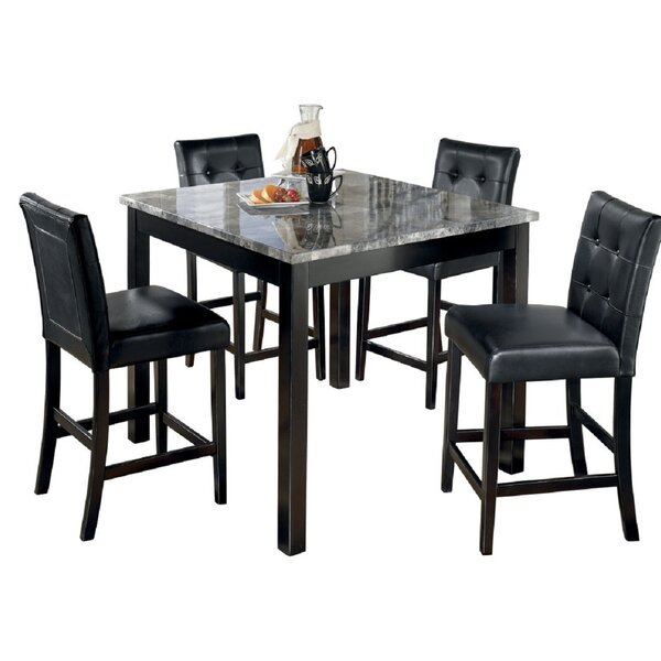 Mangels  5 Piece Counter Height Dining Set By Canora Grey New
