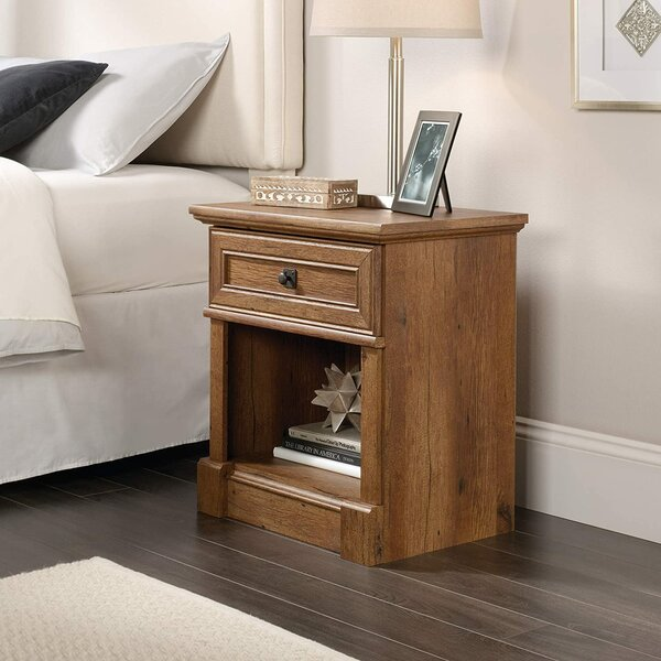Deherrera 1 - Drawer Nightstand In Brown By Loon Peak