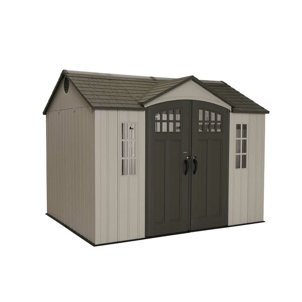 9 ft. 8 in. W x 7 ft. 8 in. D Plastic Vertical Storage Shed by Lifetime