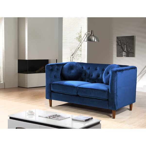 Kitts Classic Chesterfield Loveseat by Everly Quinn