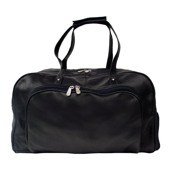 Traveler Deluxe 17 Leather Carry-On Duffel by Piel Leather