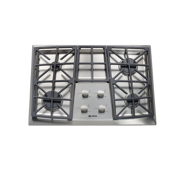 30 Gas Cooktop with 4 Burners and Front Control by Verona