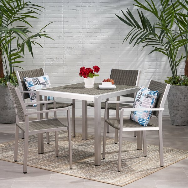 Smedley Buckle 5 Piece Dining Set by Orren Ellis