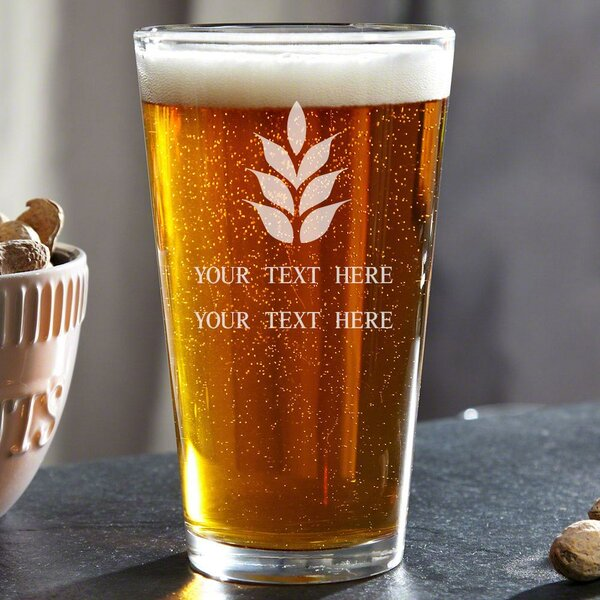 Naturally Brewed Personalized 16 oz. Glass Pint Glass by Home Wet Bar