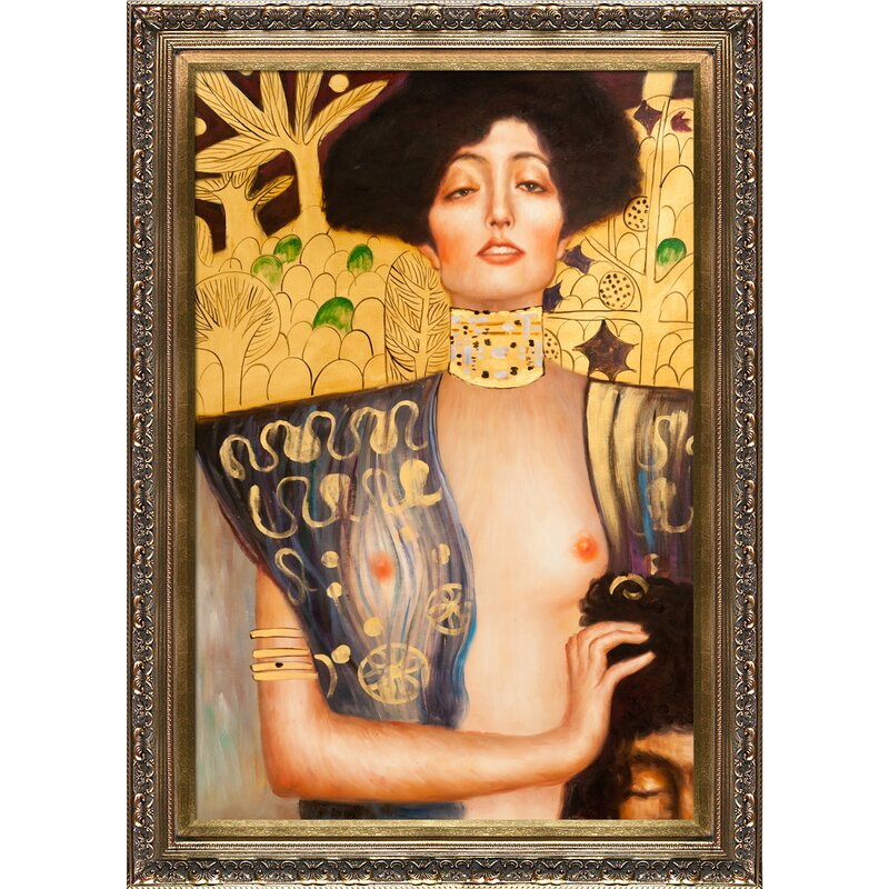 Tori Home Judith Klimt I by Gustav Klimt Framed Painting & Reviews ...