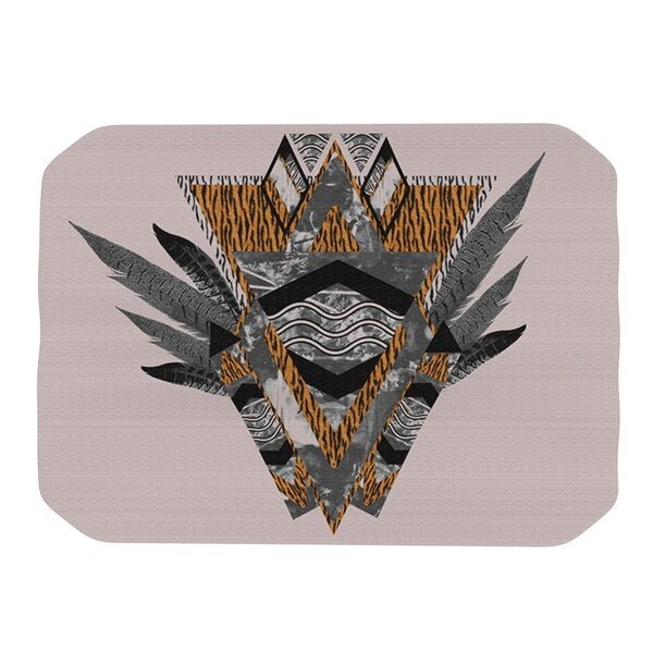 Indian Feather Placemat by KESS InHouse