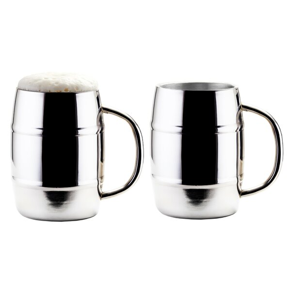 KeepKool® Double Walled Stainless Steel 33.8 oz. Moscow Mule Mug (Set of 2) by Old Dutch International