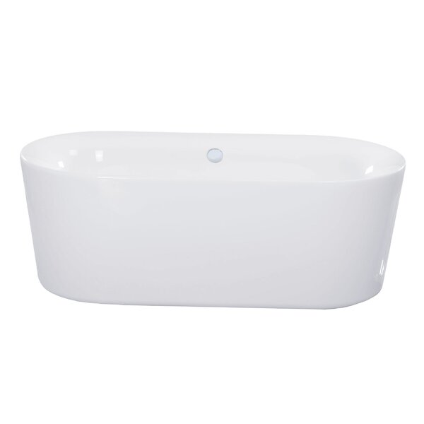 Dewey 59.06 x 31.5 Freestanding Soaking Bathtub by Maykke