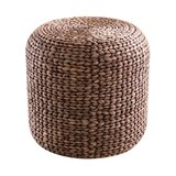 Mayes Round Water Hyacinth Woven Pouf by Bay Isle Home