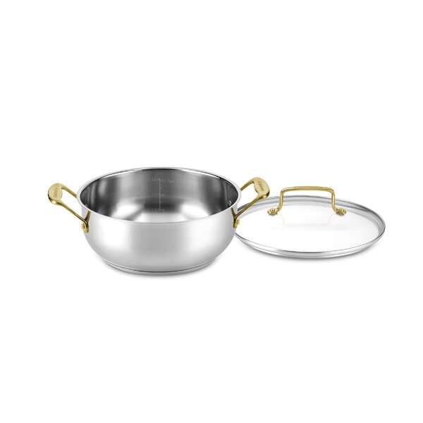 Mineral 4 Qt. Stainless Steel Round Dutch Oven by Cuisinart