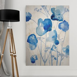 'Blue Day Dawning I' Graphic Art Print on Wrapped Canvas by Wexford Home